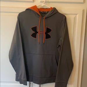 Men's Underarmour Grey Hoodie/ khaki Aero shorts
